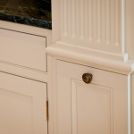 Fluted column pull-out storage