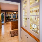 Butlers pantry with glass doors