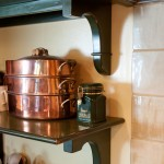 Kitchen shelving with custom brackets