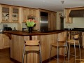 Contemporary birds-eye maple kitchen