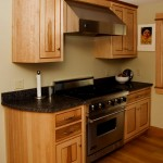 Curved beadboard kitchen cabinets