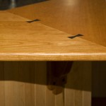 Craftsman style cherry wood countertop
