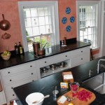 Soapstone countertop with undermount stainless steel sink