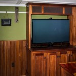 Media cabinet with retractable TV lift